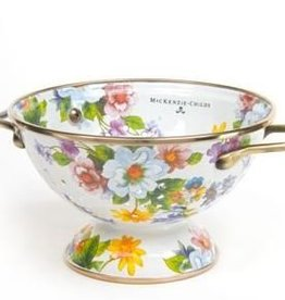 MacKenzie-Childs Flower Market Small Colander-White