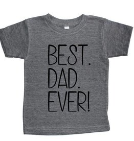 T's and Tots Infant Best Dad Ever T-Shirt 18-24M