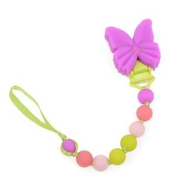 """Chewbeads Chewbeads Baby """"Where's The Pacifier?"""" Clip- Butterfly"""