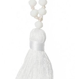 Amadoria Talya Tassle Necklace- White/White
