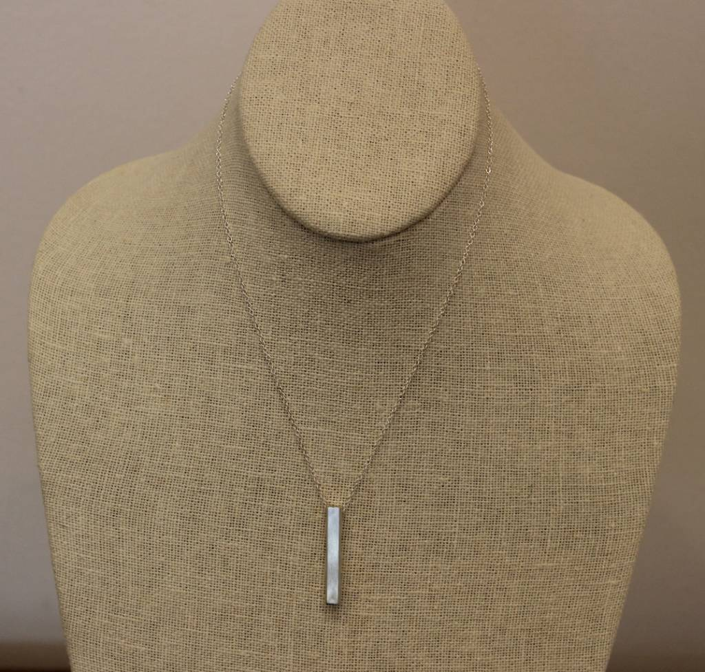 Beth Macri Silver Diamond Hidden Message Necklace