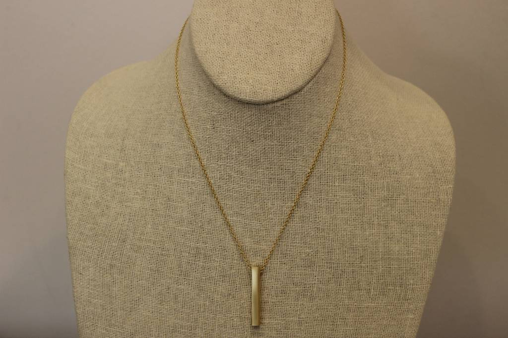 "Beth Macri Gold Initial ""D"" Hidden Message Necklace"
