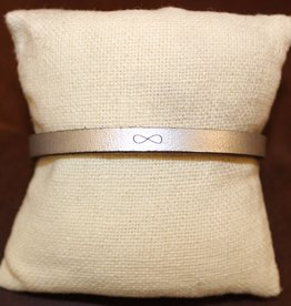 "Laurel Denise Silver ""Infinity"" Leather Bracelet"