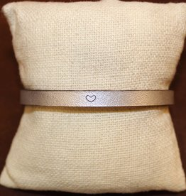 "Laurel Denise Silver ""Heart"" Leather Bracelet"