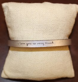 "Laurel Denise Silver ""I Love You So Very Much"" Leather Bracelet"