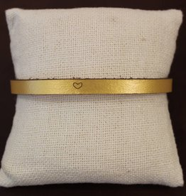 "Laurel Denise Gold ""Heart"" Leather Bracelet"