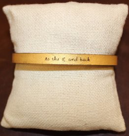 "Laurel Denise Gold ""To The Moon"" Leather Bracelet"