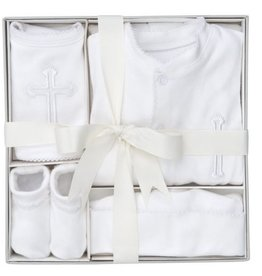 Elegant Baby 4 Piece Boxed Christening Set