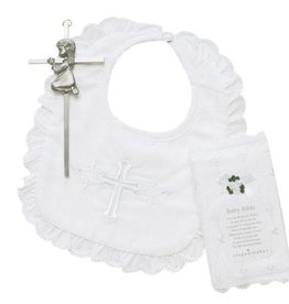 Elegant Baby Bible & Cross Set- Girl