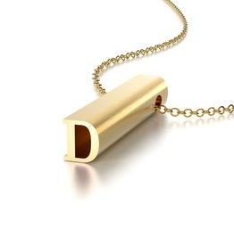 "Beth Macri Gold Initial ""D"" Hidden Message Necklace"