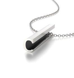 """Beth Macri Silver Initial """"C"""" Hidden Message Necklace"""
