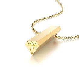 Beth Macri Gold Diamond Hidden Message Necklace