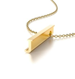 "Beth Macri Gold Initial ""J"" Hidden Message Necklace"