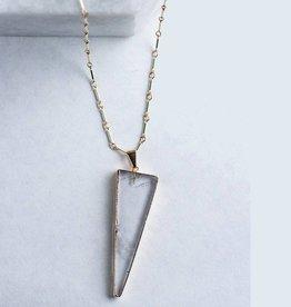 Christine Elizabeth Jewelry En Pointe Necklace Rose Quartz