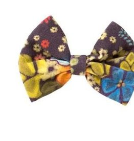 Lulu and Roo Plum Boho Floral Bow
