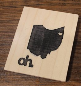 Petal Lane State of Ohio Wood Tiles