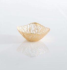 Shiraleah Gold Glacier Square Dessert Bowl