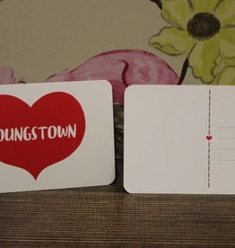 Rock Scissor Paper Youngstown Heart Postcard