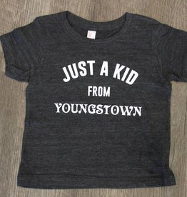T's and Tots Toddler Just A Kid From Youngstown Dark Grey Tee