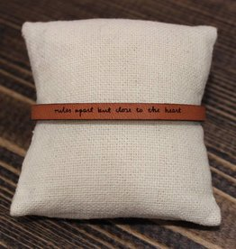 "Laurel Denise Brown ""Miles Apart"" Leather Bracelet"