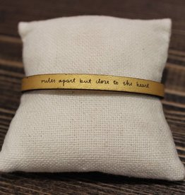 "Laurel Denise Gold ""Miles Apart"" Leather Bracelet"