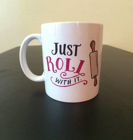 The Scribble Studio Just Roll With It Mug