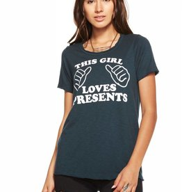 Chaser This Girl Loves Presents Short Sleeve Tee