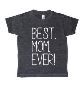 T's and Tots 4T Best Mom Ever Dark Grey T-Shirt