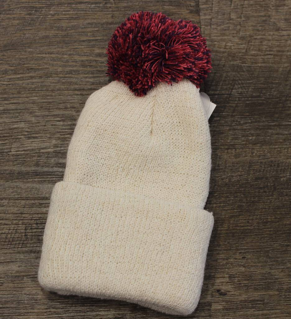 In 2 Green Pink White Baby Hat With Pom Pom - ivory   birch d2628dfc707