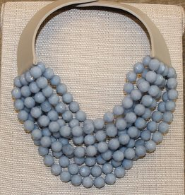 Fairchild Baldwin Bella Necklace- Cornflower & Taupe