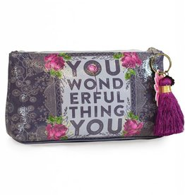 Papaya Small Pouch With Tassel