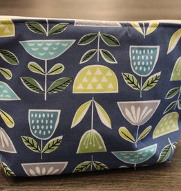 Dana Herbert Accessories Large Cosmetic Bag Flower Pot
