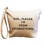 Retrospect Group Canvas Makeup Bag Girl Please I'm From Youngstown