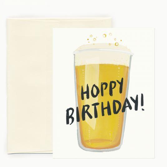 Idlewild Co Hoppy Birthday Card Ivory Birch