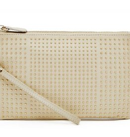 Handbag Butler Cream with Little Studs Chargeable Wristlet