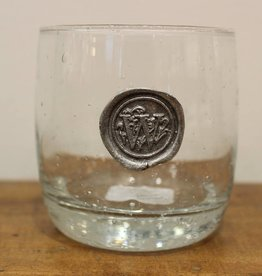 Southern Jubilee Double Old Fashion Glass-Initial W