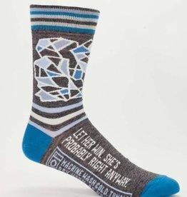Blue Q Men's Socks - Let Her Win