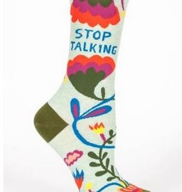 Blue Q Women's Socks Stop Talking