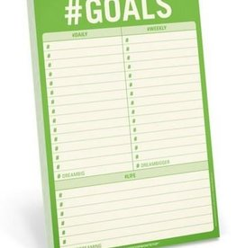 Knock Knock #Goals Notepad