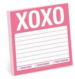 Knock Knock Sticky Note: XOXO