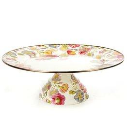 MacKenzie-Childs Morning Glory Pedestal Platter-Large