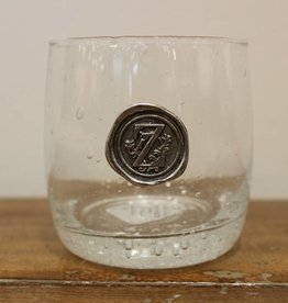 Southern Jubilee Double Old Fashion Glass- Initial Z