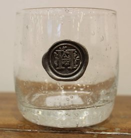 Southern Jubilee Double Old Fashion Glass-Initial H