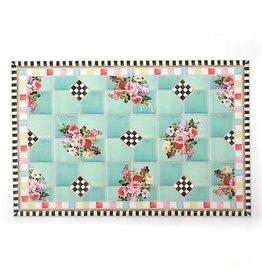MacKenzie-Childs Chelsea Garden Floor Mat- 2'X3'