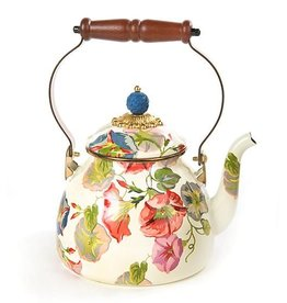 MacKenzie-Childs Morning Glory Tea Kettle- 2 Quart