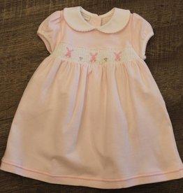 Magnolia Baby Collared Smocked Dress Set - Pink