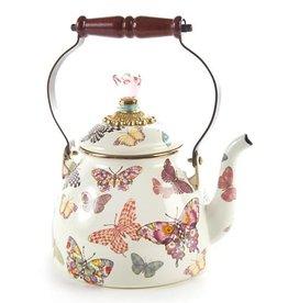 MacKenzie-Childs Butterfly Garden 2 Quart Tea Kettle