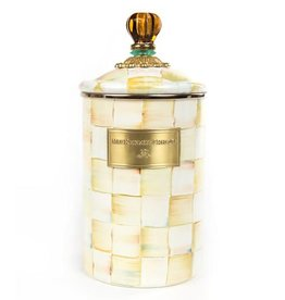 MacKenzie-Childs Parchment Check Canister - Large