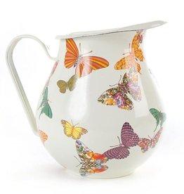 MacKenzie-Childs Butterfly Garden Pitcher - White