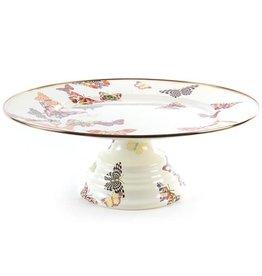 MacKenzie-Childs Butterfly Garden Pedestal Platter-Large